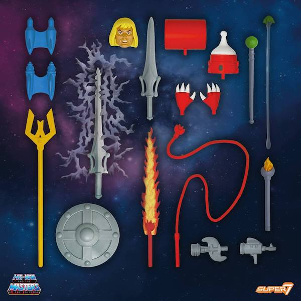Super7 – Masters Of The Universe Classics Club Grayskull Wave 4 Accessories