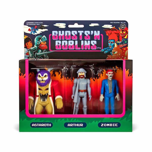 Super7 Ghosts 'n Goblins 3.75″ ReAction Figures 3-Packs