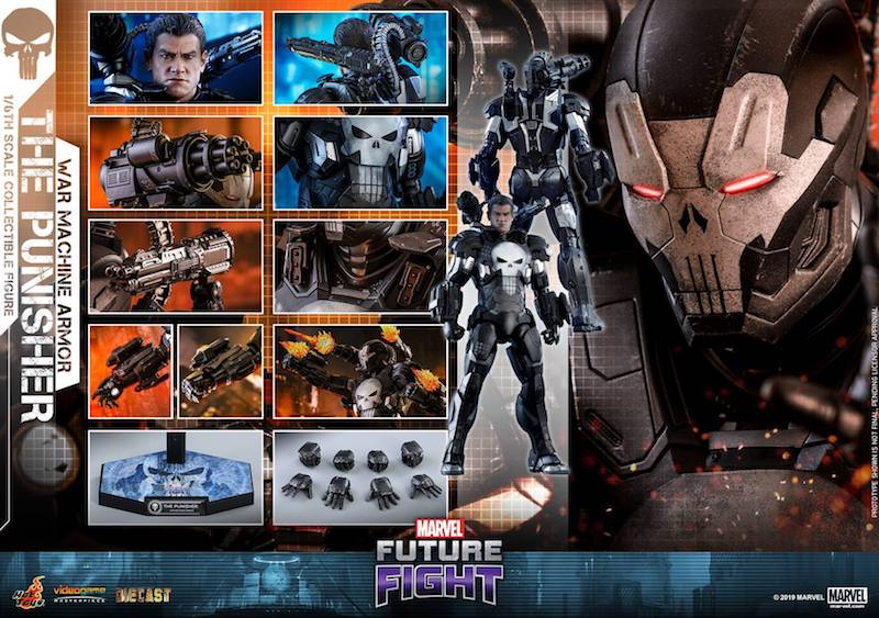 Hot Toys Marvel: Future Fight – The Punisher In War Machine Armor Sixth Scale Figure Pre-Orders