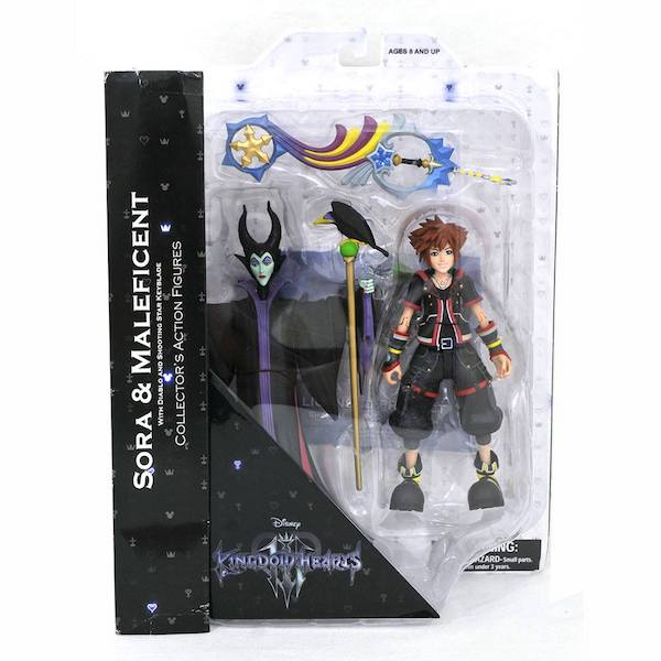 Diamond Select Toys Kingdom Hearts Select Sora & Maleficent 2-Pack Select Figures In-Packaging