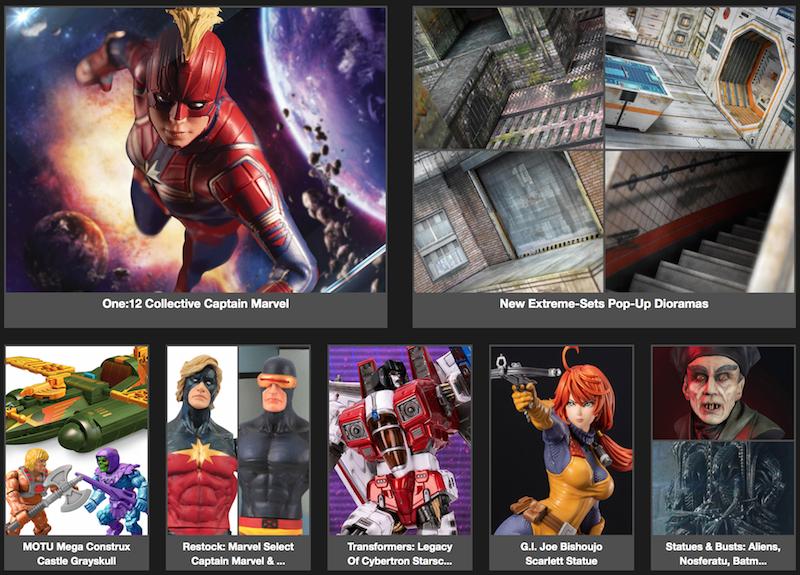 BigBadToyStore News – One:12 Captain Marvel, Extreme-Sets, MOTU, Transformers, GI Joe, Street Fighter, Star Wars, DC & More