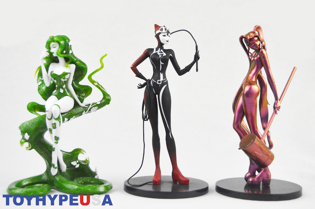DC Collectibles – DC Artists Alley Harley Quinn, Poison Ivy & Catwoman Designer Figures Review