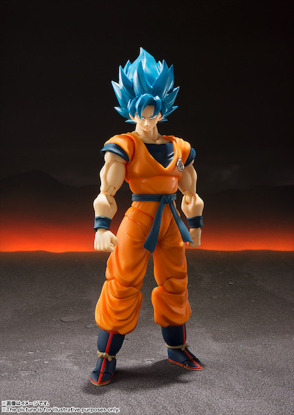 Dragon Ball Super: Broly S.H.Figuarts Super Saiyan God Super Saiyan Goku Figure Available Now