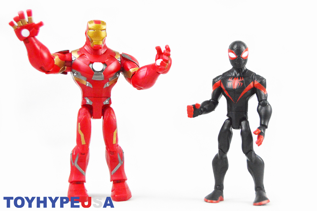 Disney Store Exclusive Marvel Toy Box Iron Man & Miles Morales Figures Review