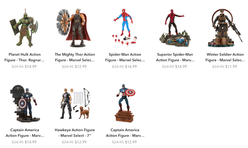 Disney Store Exclusive Marvel Select Figures Up To 50% Off Or More