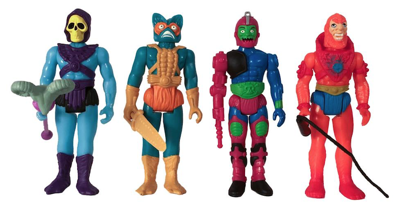 Super7 Masters Of The Universe ReAction Castle Grayskull & Snake Mountain Box Of 12 Figures