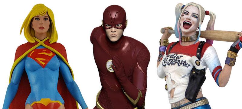 Icon Heroes – Karate Kid Figures, The Flash, Harley Quinn & Supegirl Statues