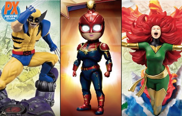 Beast Kingdom – Captain Marvel & Wolverine Previews Exclusive Statues & Egg Attack Figures