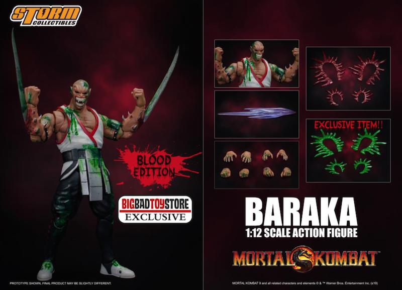 BigBadToyStore Exclusive – Storm Collectibles Mortal Kombat Baraka (Bloody Edition) Figure