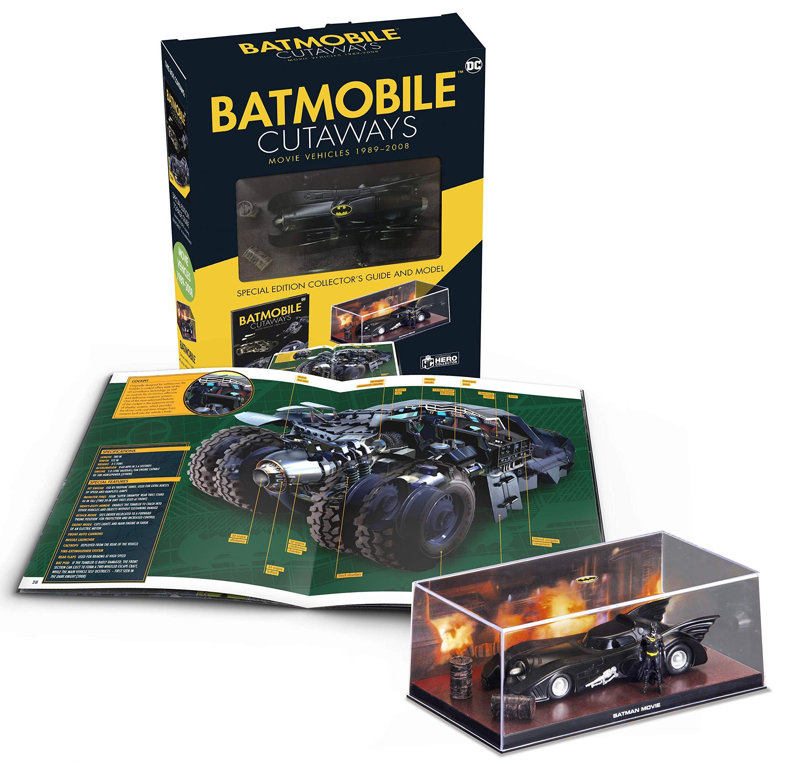 Eaglemoss Hero Collector – Batmobile Cutaways: The Movie VehiclesBoxed Set
