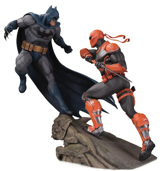 DC Collectibles In Stores This Week – Batman Vs Deathstroke Battle Statue & DC Bombshells: Death Statue
