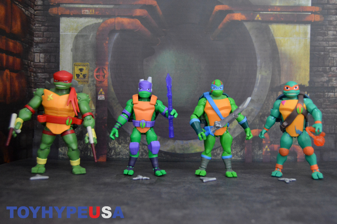 Playmates Toys Rise Of The Teenage Mutant Ninja Turtles Battle Shell Figures Review