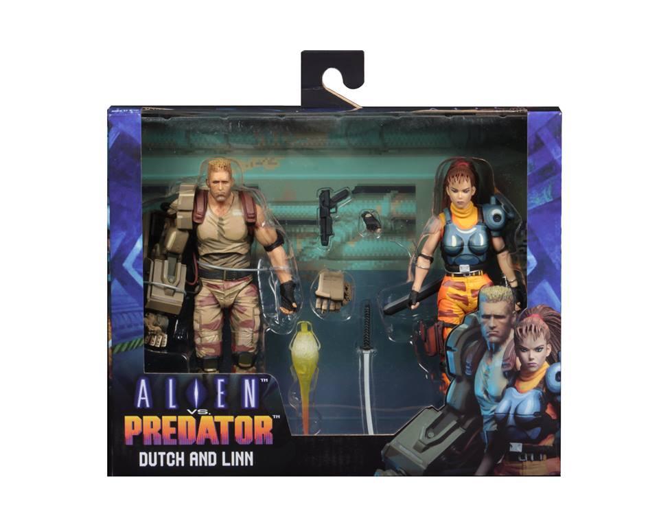 NECA Toys Alien Vs. Predator Arcade Dutch & Linn 2-Pack Figures In-Package