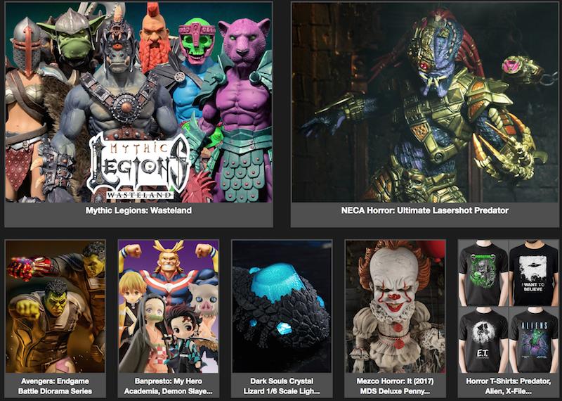 BigBadToyStore News – Mythic Legions, Predator, IT, T-Shirts, Banpresto, Endgame, Borderlands, CoD, Sailor Moon & More