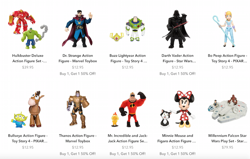 Disney Store Offering BOGO Sale With 50% Off On Toy Box Figures