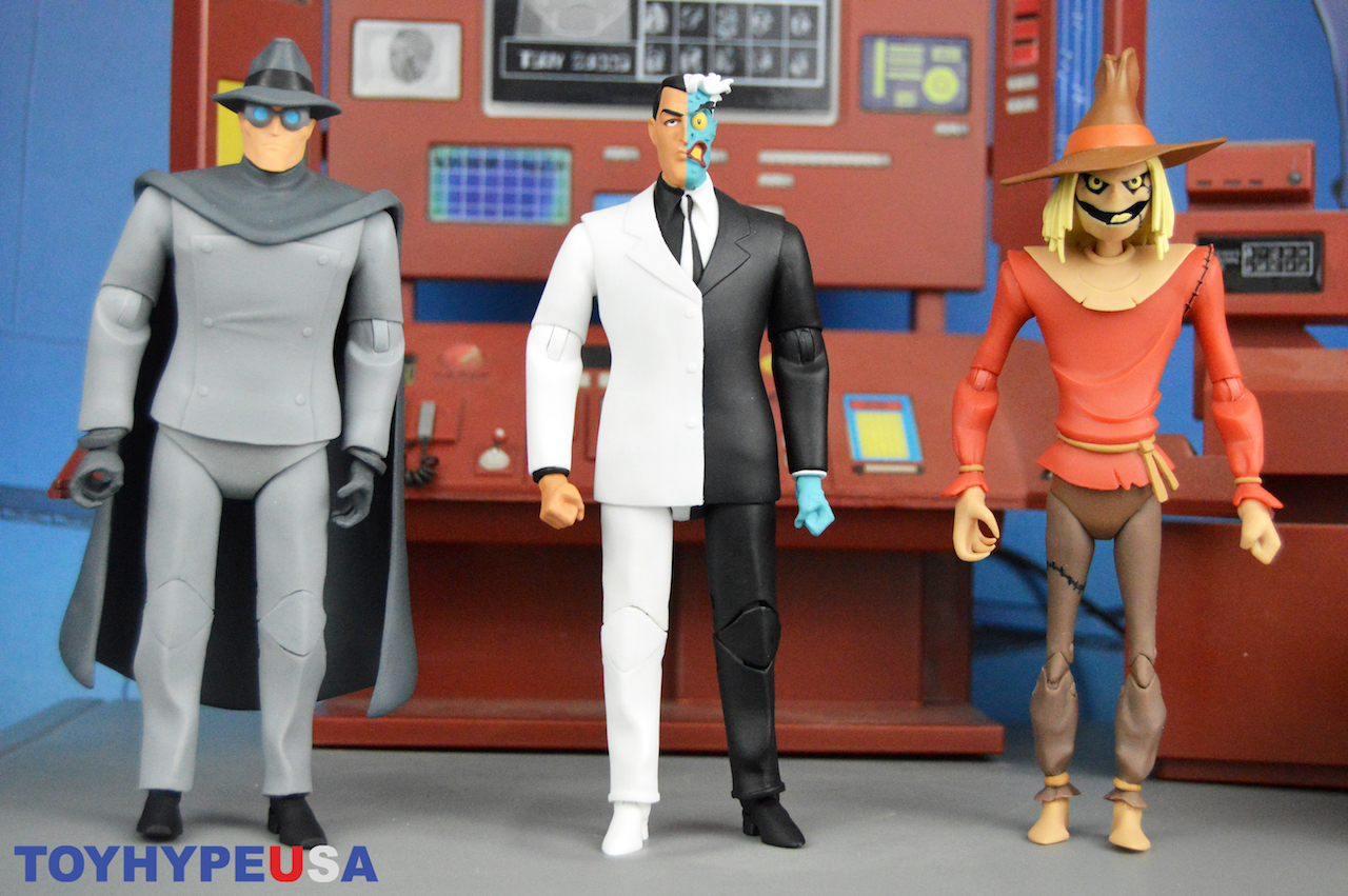 DC Collectibles – Batman: The Animated Series Gray Ghost, Scarecrow & Two-Face Figures Review