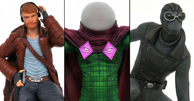 Diamond Select Toys – GameStop Exclusive Star-Lord, Mysterio, & Spider-Man Statues