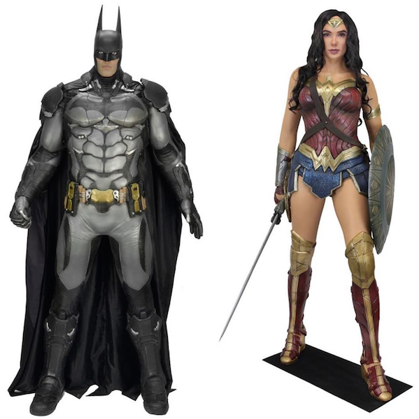NECA Toys Life-Size Arkham Knight Foam Replica Batman & Wonder Woman Movie Figures Available Now