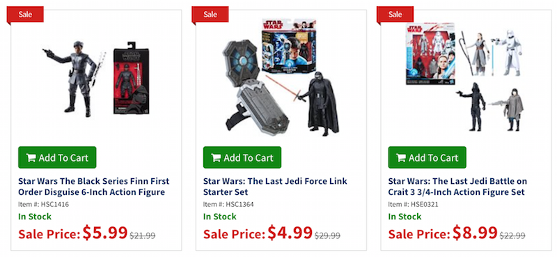 Entertainment Earth Daily Deal – Star Wars: The Last Jedi Figures Up To 80% Off