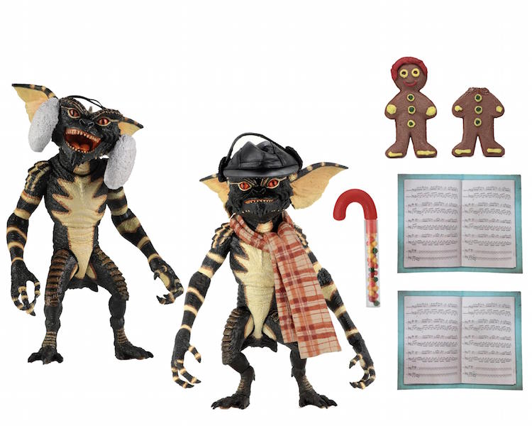 NECA Toys Gremlins 7″ Scale Christmas Carol Winter Scene 2-Pack
