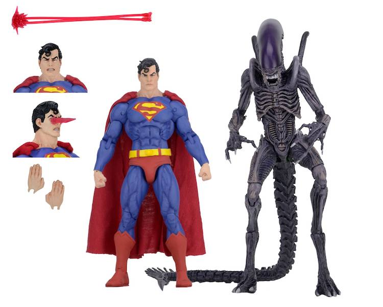 NECA Toys San Diego Comic-Con 2019 Exclusive Superman Vs Aliens 2-Pack