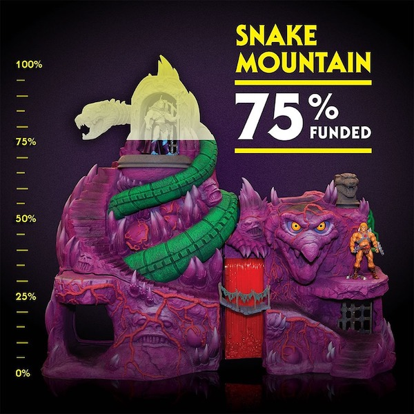 Super7 – Masters Of The Universe Classics Collectors' Choice Snake Mountain Playset Now 75% Funded