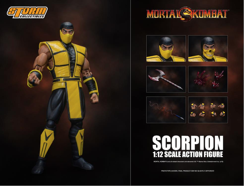 Storm Collectibles Mortal Kombat 3 VS Series Scorpion 1/12 Scale Figure Pre-Orders