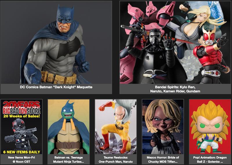 BigBadToyStore News – 20th Anniversary Sales, TMNT, Marvel Legends, Bandai Spirits, DBZ, Game Of Thrones, Transformers, Freddy Krueger & More