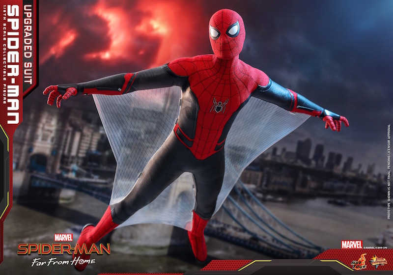 Hot Toys Spider-Man: Far From Home Upgraded Suit Spider-Man Sixth Scale Figure