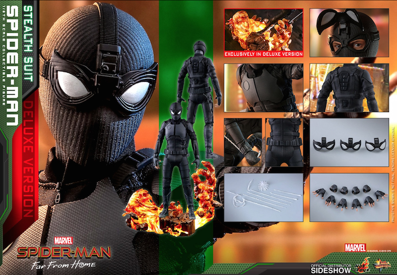 Hot Toys Spider-Man: Far From Home – Stealth Suit Deluxe Version Sixth Scale Figure Pre-Orders