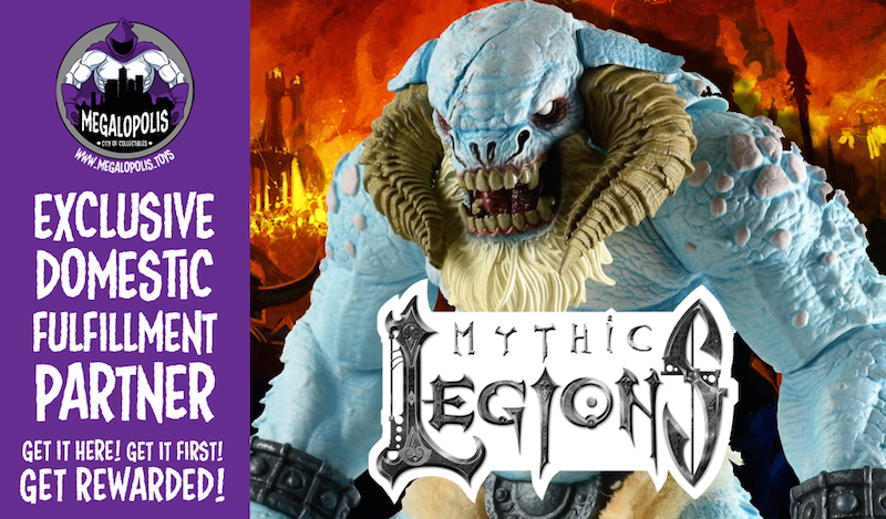 Four Horsemen Studios & Megalopolis Announce Exclusive Domestic Fulfillment Partnership For Mythic Legions