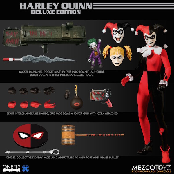 Mezco Toyz DC Comics One:12 Collective Deluxe Harley Quinn Figure Pre-Orders