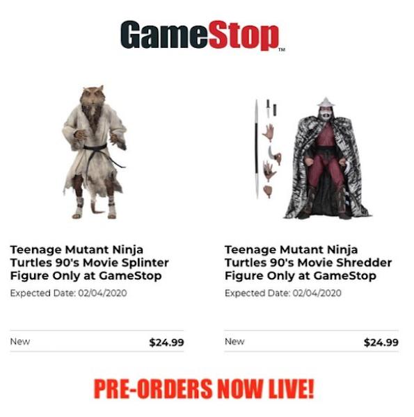 """NECA Toys Teenage Mutant Ninja Turtles 1990 Movie """"The Capture of Splinter"""" Figures Pre-Orders At GameStop"""