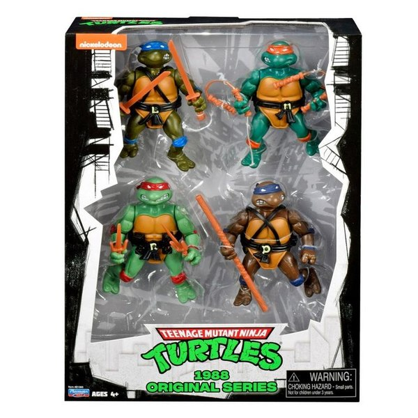 Playmates Toys Teenage Mutant Ninja Turtles Classic 1988 Figure 4-Pack Coming To GameStop