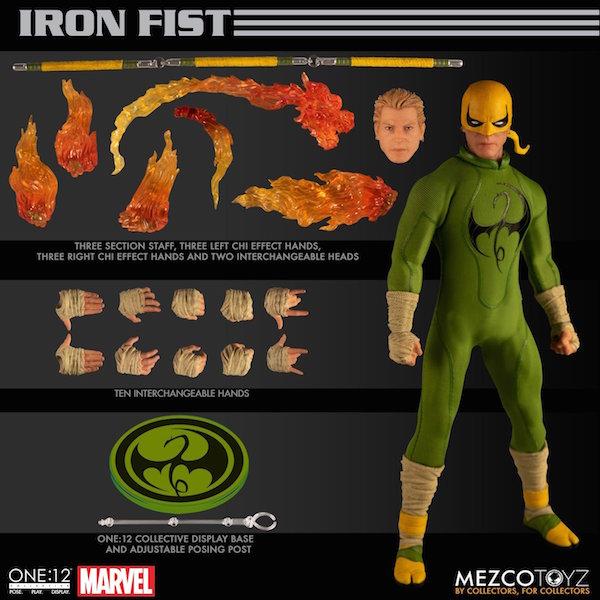 Mezco Toyz – Marvel Comics Iron Fist One:12 Collective Figure Pre-Orders