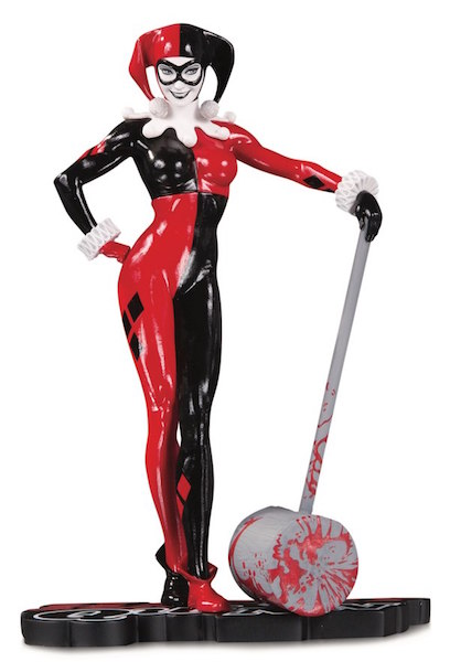 DC Direct Shipping This Week – Harley Quinn Red, White & Black Statue By Adam Hughes
