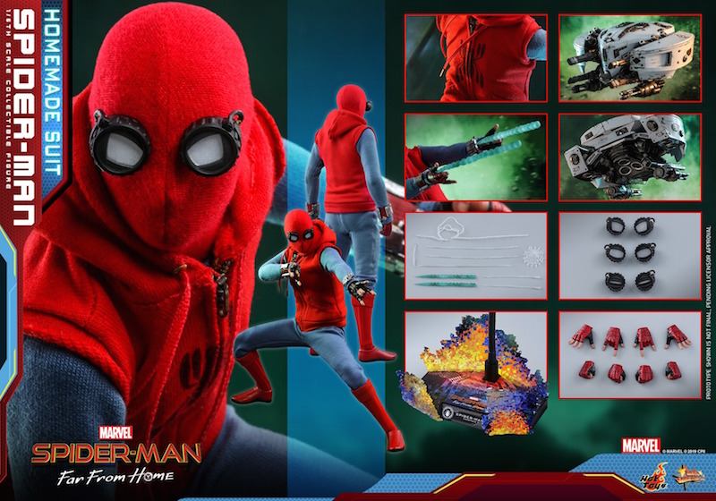 Hot Toys Spider-Man: Far From Home – Homemade Suit Spider-Man Sixth Scale Figure Pre-Orders