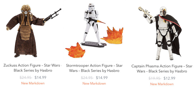 Disney Store Exclusive – The Black Series Captain Phasma, Stormtrooper & Zuckuss Clearance Sale