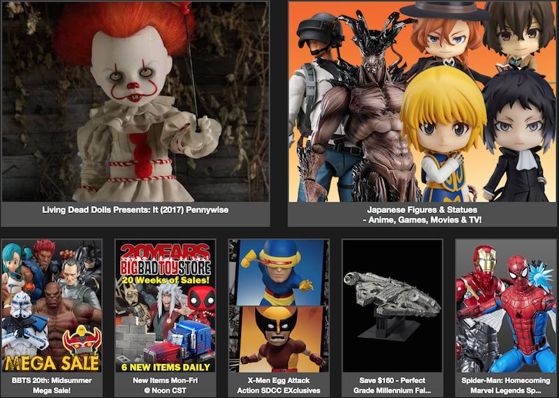 BigBadToyStore News – IT, X-Men, DC, Final Fantasy, Marvel Legends, Michael Jordan, Star Wars, TMNT, Doctor Who, Mortal Kombat & More