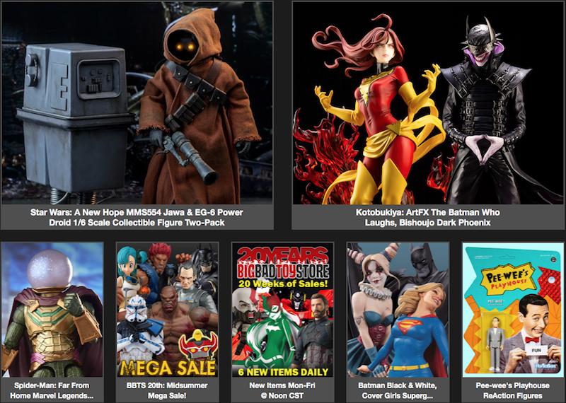 BigBadToyStore News – Dark Phoenix, Batman Who Laughs, Star Wars, Mysterio, Titan Body, Vampirella, Pee-Wee, Transformers & More