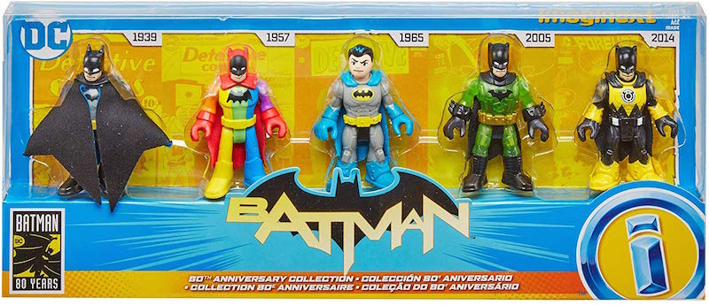 Fisher-Price Imaginext DC Super Friends Batman 80th Anniversary Collection Box Set Pre-Orders Shipping October 14th