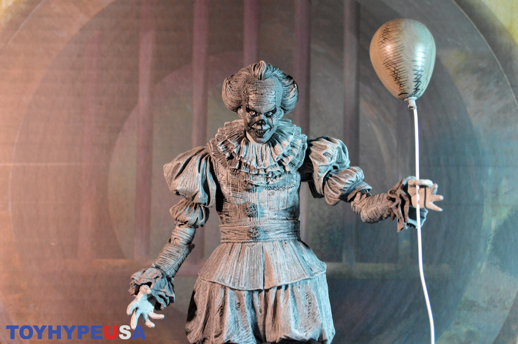 NECA Toys SDCC 2019 Exclusive – Pennywise Derry Charter Engraving Version Figure Review