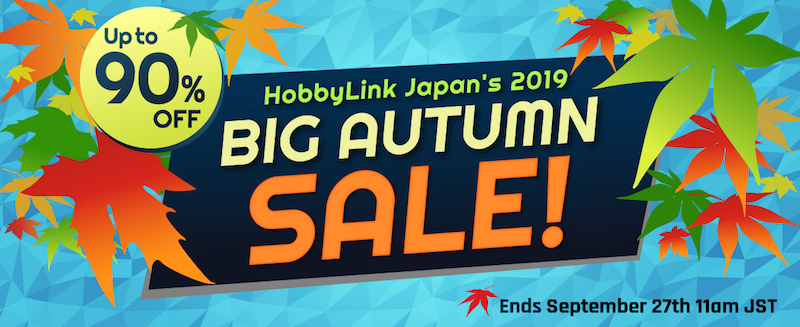 Hobby Link Japan Launches Autumn Sale With Up To 90% Off