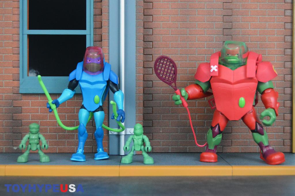 Playmates Toys Rise Of The Teenage Mutant Ninja Turtles Bug Bustin' Raph & Leo Figures Review