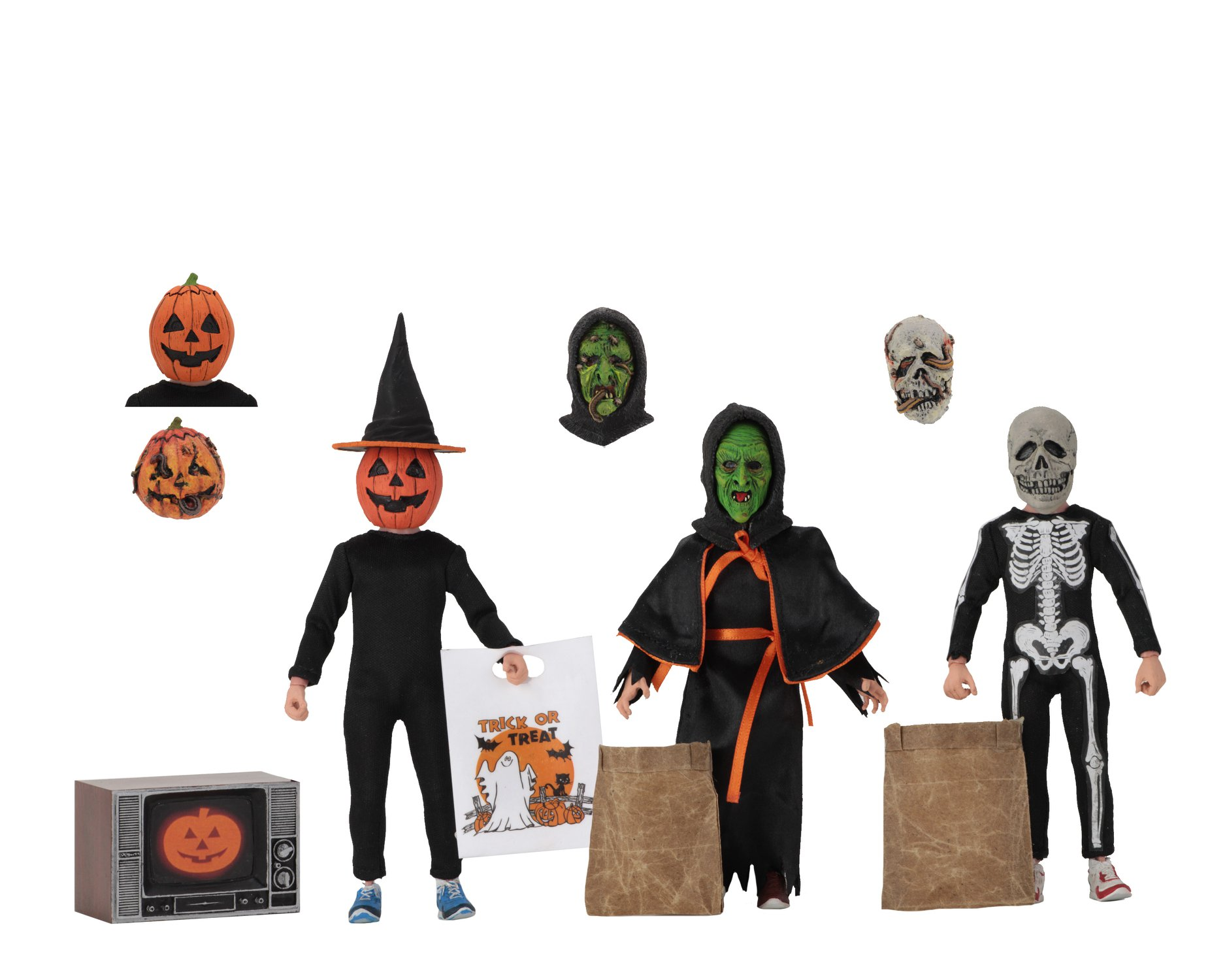 NECA Toys Halloween 3 – Season Of The Witch – 8″ Scale Clothed Figure Set