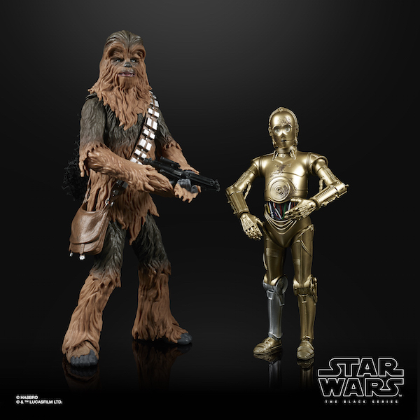 Amazon Exclusive Hasbro Star Wars The Black Series 6″ Chewbacca & C-3PO 2-Pack Figures Now $34.99