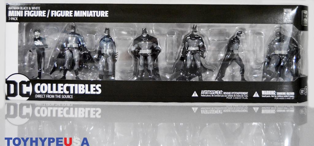 Pack Mini Figure Set 4 DC Comics Batman Black /& White 7