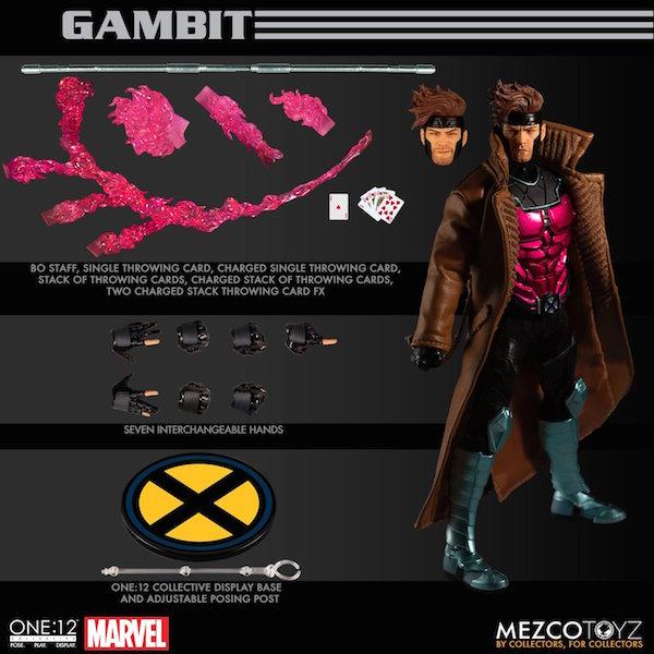 Mezco Toyz Marvel Comics – Gambit One:12 Collective Figure Pre-Orders