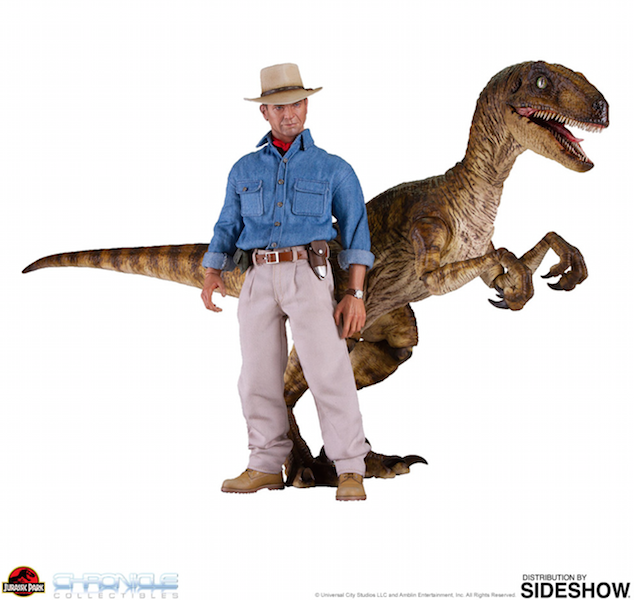 Chronicle Collectibles Jurassic Park Dr. Alan Grant & Velociraptor Sixth Scale Figure Set Pre-Orders