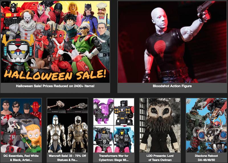 BigBadToyStore News – Halloween Sale, DC, Bloodshot, Jurassic Park, Transformers, Street Fighter, Warcraft, Aliens, Star Wars & More